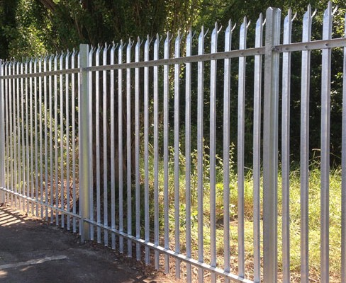 steel palisade fencing installed