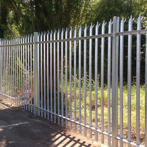 steel palisade fencing installed