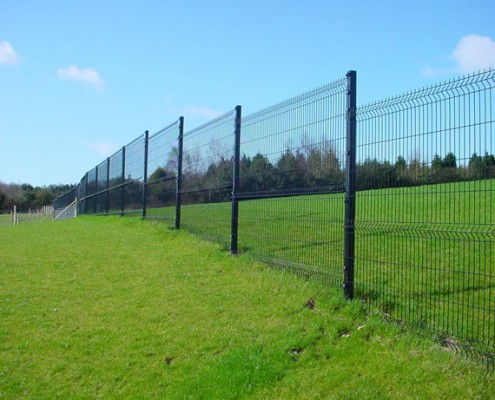 Security mesh boundary fencing