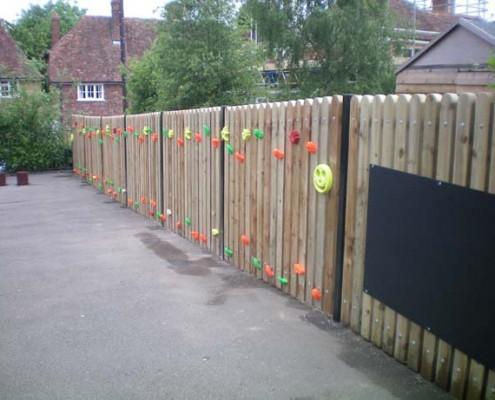 Bespoke climbing wall fence