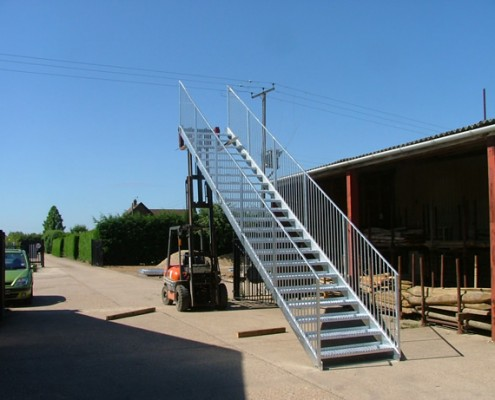 External Stairway Custom Design and Metalwork