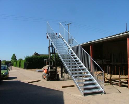 External Stairway Custom Design and Metalwork