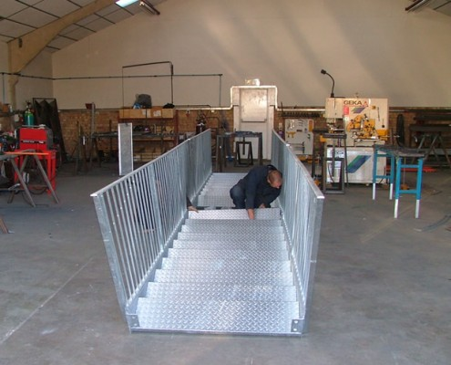 metal external stairway fabrication