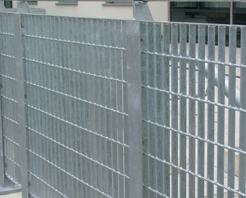 steel grid barrier handrail
