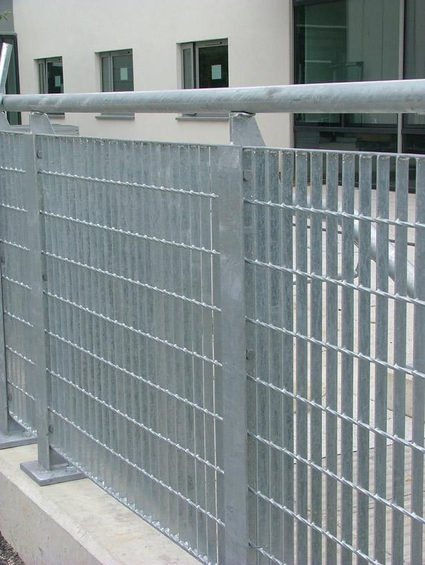 steel grid barrier handrail