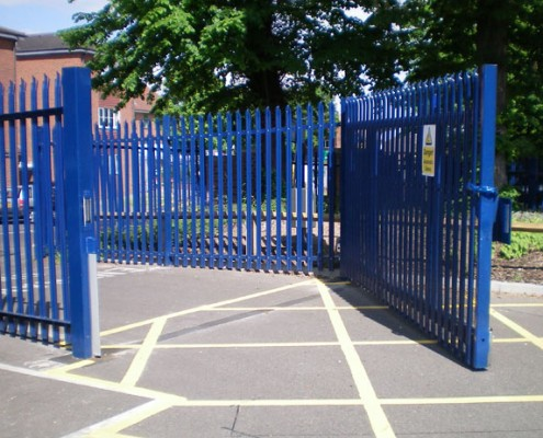 Security Steel Palisade Gates