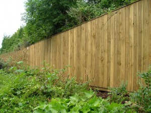 Acoustic Wooden Fence