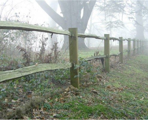cleft chestnut post and rail fencing