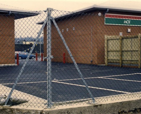 1.8 metre chainlink fencing on galvanised iron posts