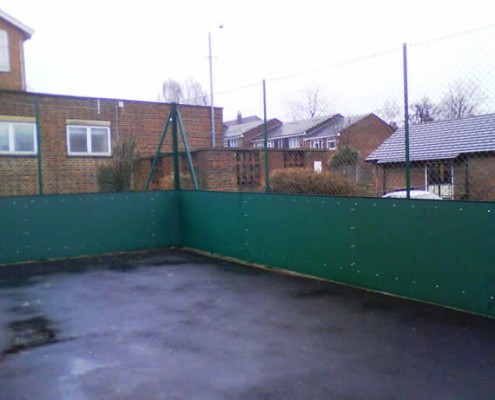 3m high chainlink fencing with a rebound board