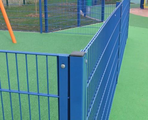 Childrens playground perimeter weldmesh metal fence
