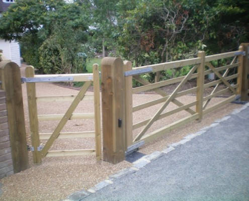 Wooden field gates in tanalised softwood
