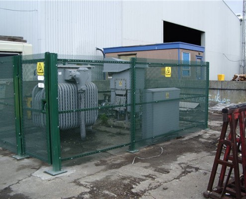 expanded metal fencing enclosure