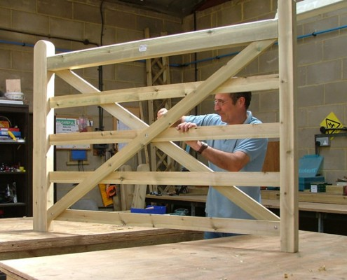 gate construction in our workshop