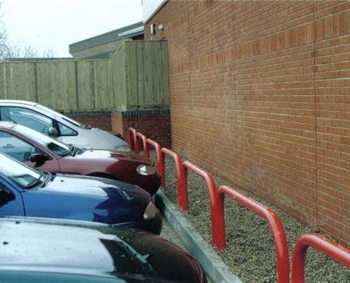 Car park hooped vehicle barrier
