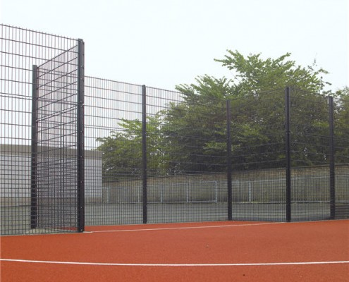 sports mesh fence with 1.2metre high bottom rebound panel