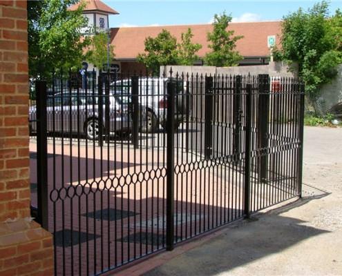 steel railing security