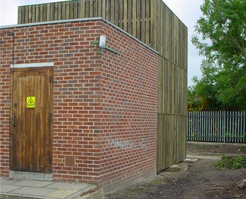 timber screen semi acoustic barrier