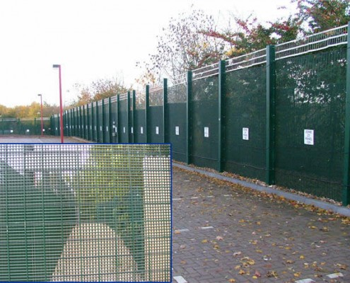very high security 358 mesh fence panels buried